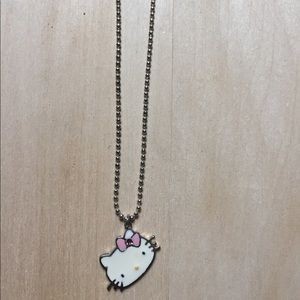 Hello Kitty Sterling Silver Pendant/Chain